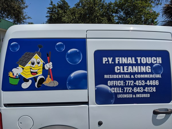P.Y. Final Touch Cleaning Service Vehicle Decals & Lettering