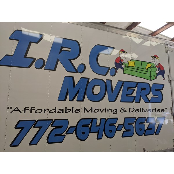 I.R.C. Movers Vehicle Decals & Lettering